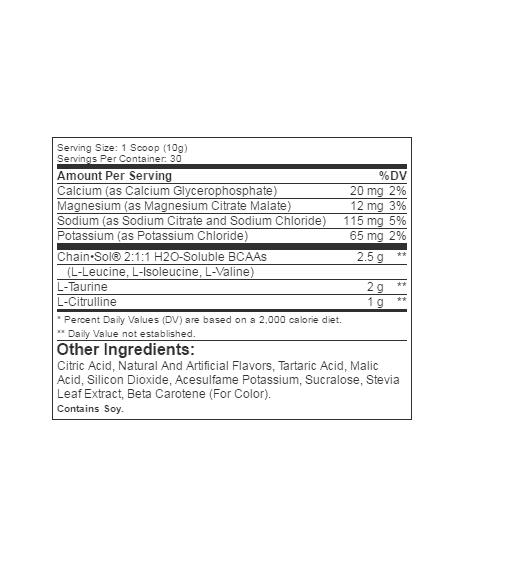 Informatii Nutritionale Amino Pro Lemon Lime