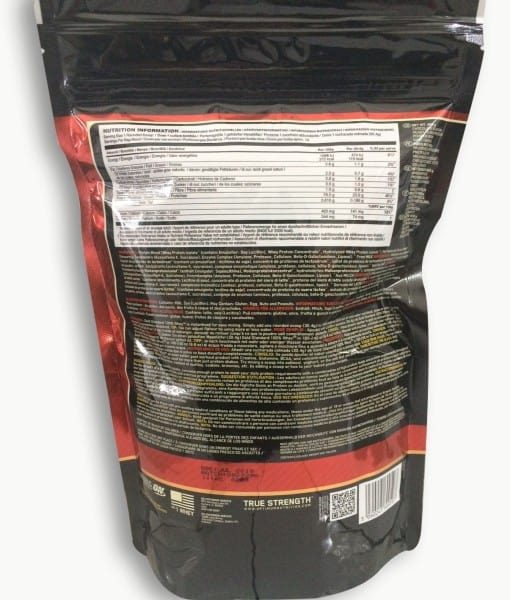 Informatii nutritionale Whey Gold Standard 450 g aroma Double Rich Chocolate