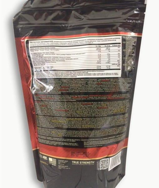 Informatii nutritionale Whey Gold Standard 450 g aroma Vanilla Ice Cream
