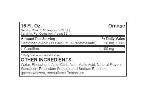Informatii Nutritionale L-Carnitine Liquid 473ml Orange