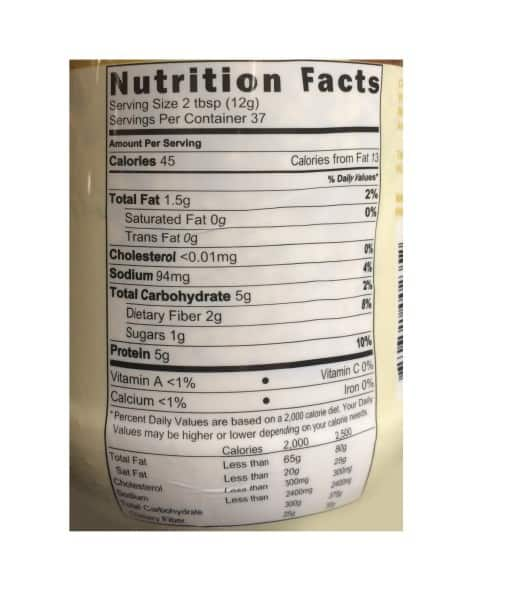 Informatii Nutritionale PB2 Powdered Peanut Natural 454 g