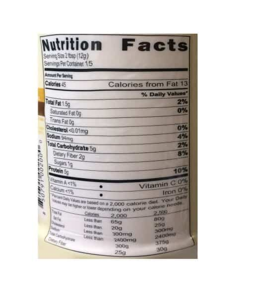 Informatii Nutritionale PB2 Powdered Peanut Natural 184 g