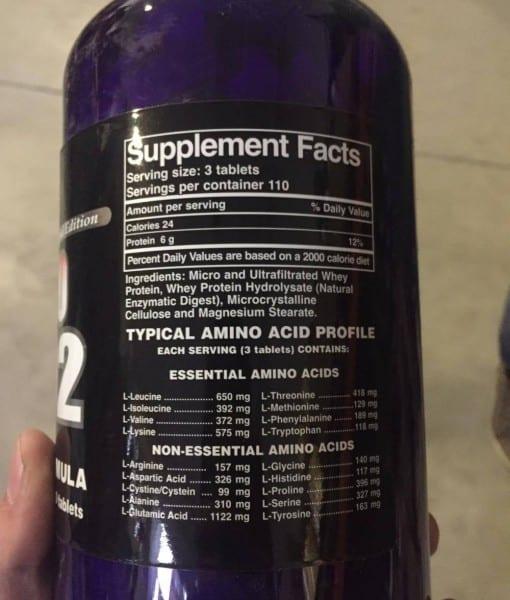 Informatii nutritionale Amino 2002 330 tabs