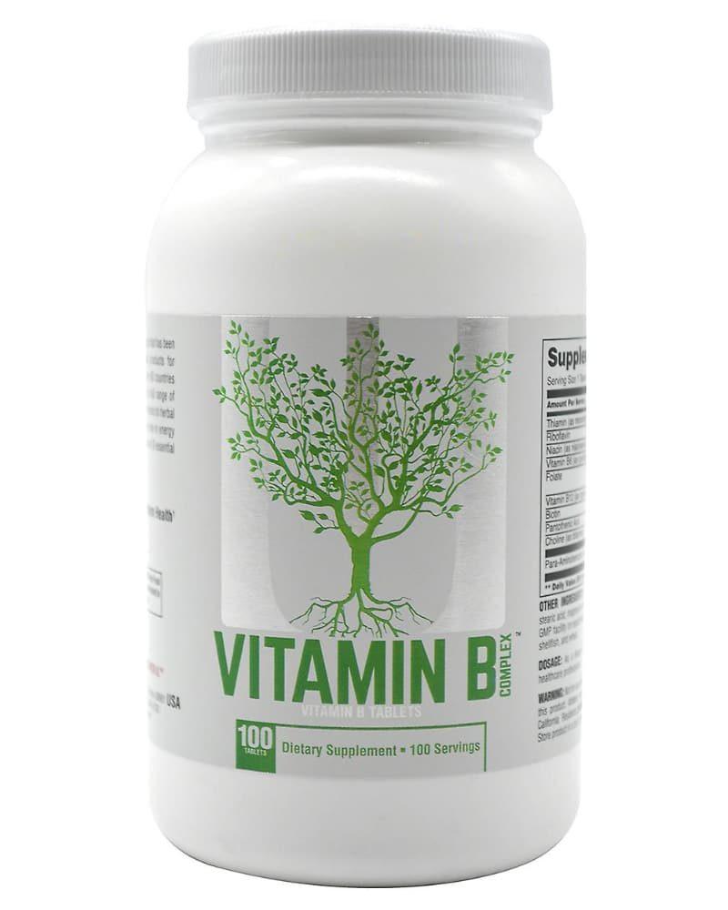 Universal Nutrition Complex Vitamina B - 100 tablets