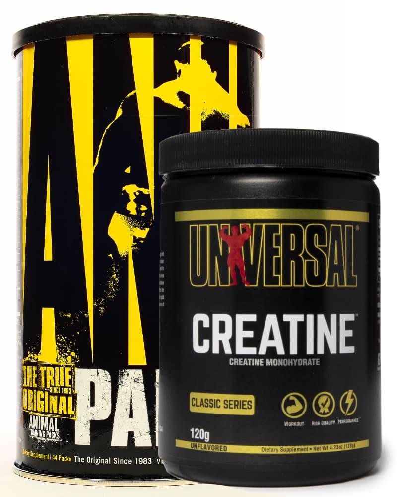 Universal Nutrition Animal Pak 44 + Universal Nutrition Creatine Powder 120g