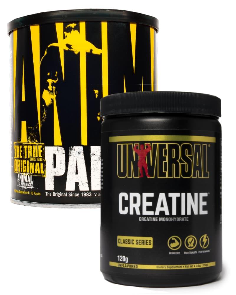 Universal Nutrition Animal Pak 15 + Universal Nutrition Creatine Powder 120gr
