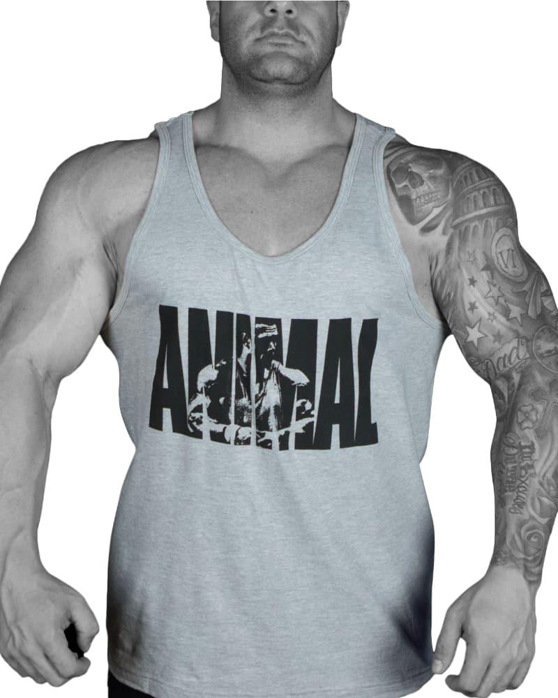 "Universal Nutrition Animal ""Snak"" Iconic Grey Tank"