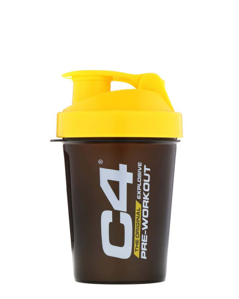 Cellucor C4 Solid Black with Yellow Shaker 600ml