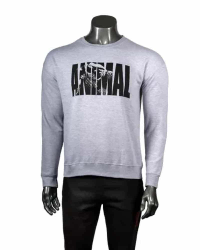 Universal Nutrition Animal Fury Iconic Grey Crew Neck