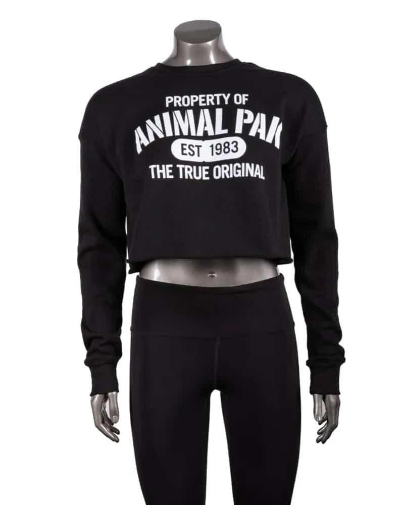 Universal Nutrition Property of Animal Pak Women's Cropped Crew Neck