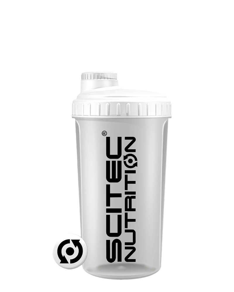 Scitec Shaker Opaque White Lid White - 700 ml